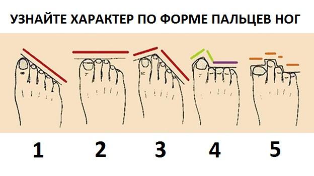 Узнай характер по форме ног.